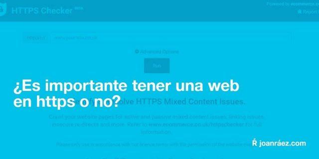 ¿es importante tener una web en https o no